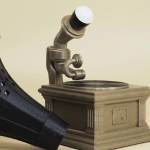 Capture d'écran 2018-06-26 à 13.24.51.png Télécharger fichier STL gratuit Lampe à gramophone • Modèle imprimable en 3D, Toolmoon