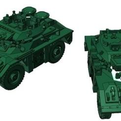 Descargar modelos 3D Vehículo blindado FV721 Fox a escala de 15 mm (1:100), dr_fil