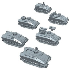 Download 3D printer designs FV103 Spartan, FV120 Spartan MCT, FV102 Striker in 1:100 scale, dr_fil