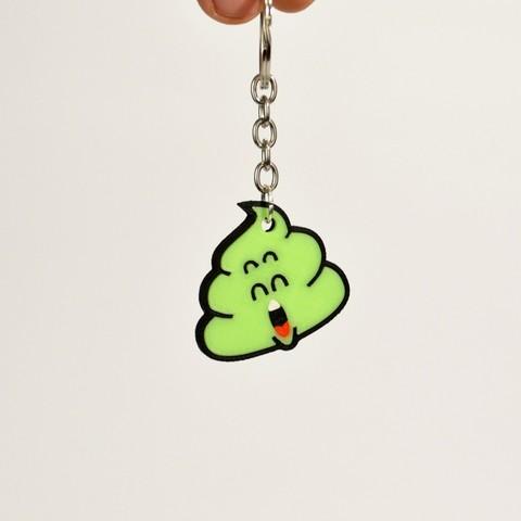 cacchina_verde.jpg Télécharger fichier STL gratuit Dr Slump Poop Porte-clés • Plan imprimable en 3D, 2be3d