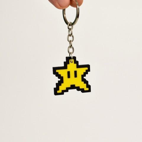 Télécharger STL gratuit Porte-clés Star Mario 8bit, 2be3d
