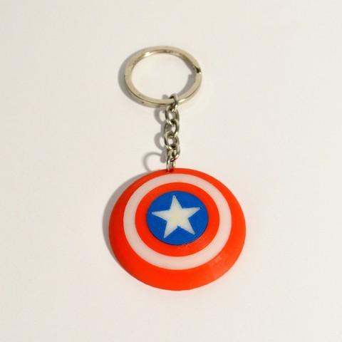 c_america_3.jpg Download free STL file Captain America Shield Keychain • 3D printable model, 2be3d