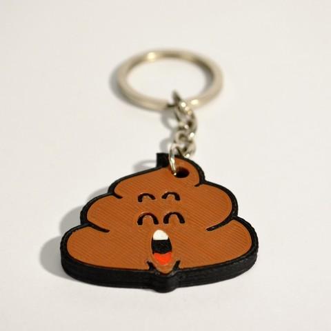 cacchina_3.jpg Télécharger fichier STL gratuit Dr Slump Poop Porte-clés • Plan imprimable en 3D, 2be3d