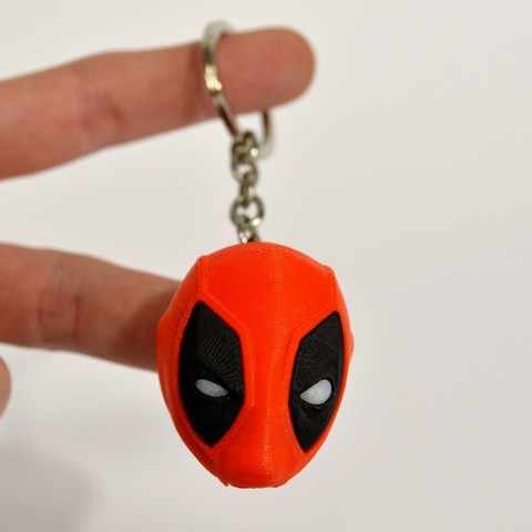 Download free 3D printing templates Deadpool Head Keychain, 2be3d