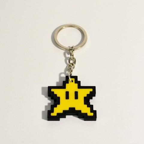stellina_3.jpg Download free STL file 8bit Star Mario Keychain • 3D printing object, 2be3d