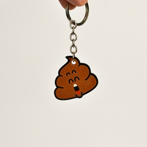 Download free STL files Dr Slump Poop Keychain, 2be3d