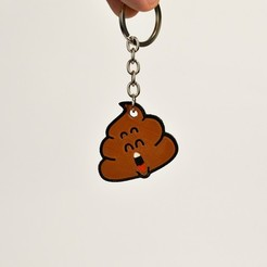 Download free STL files Dr Slump Poop Keychain, 2be3d