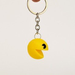Download free 3D printing models Pacman Keychain, 2be3d