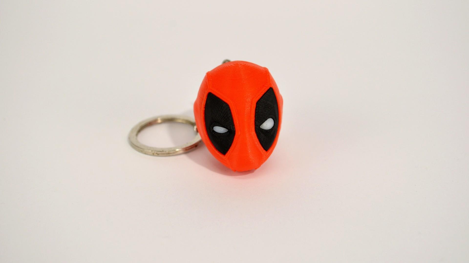 deadpool_2.jpg Télécharger fichier STL gratuit Trousseau de tête de Deadpool • Objet à imprimer en 3D, 2be3d
