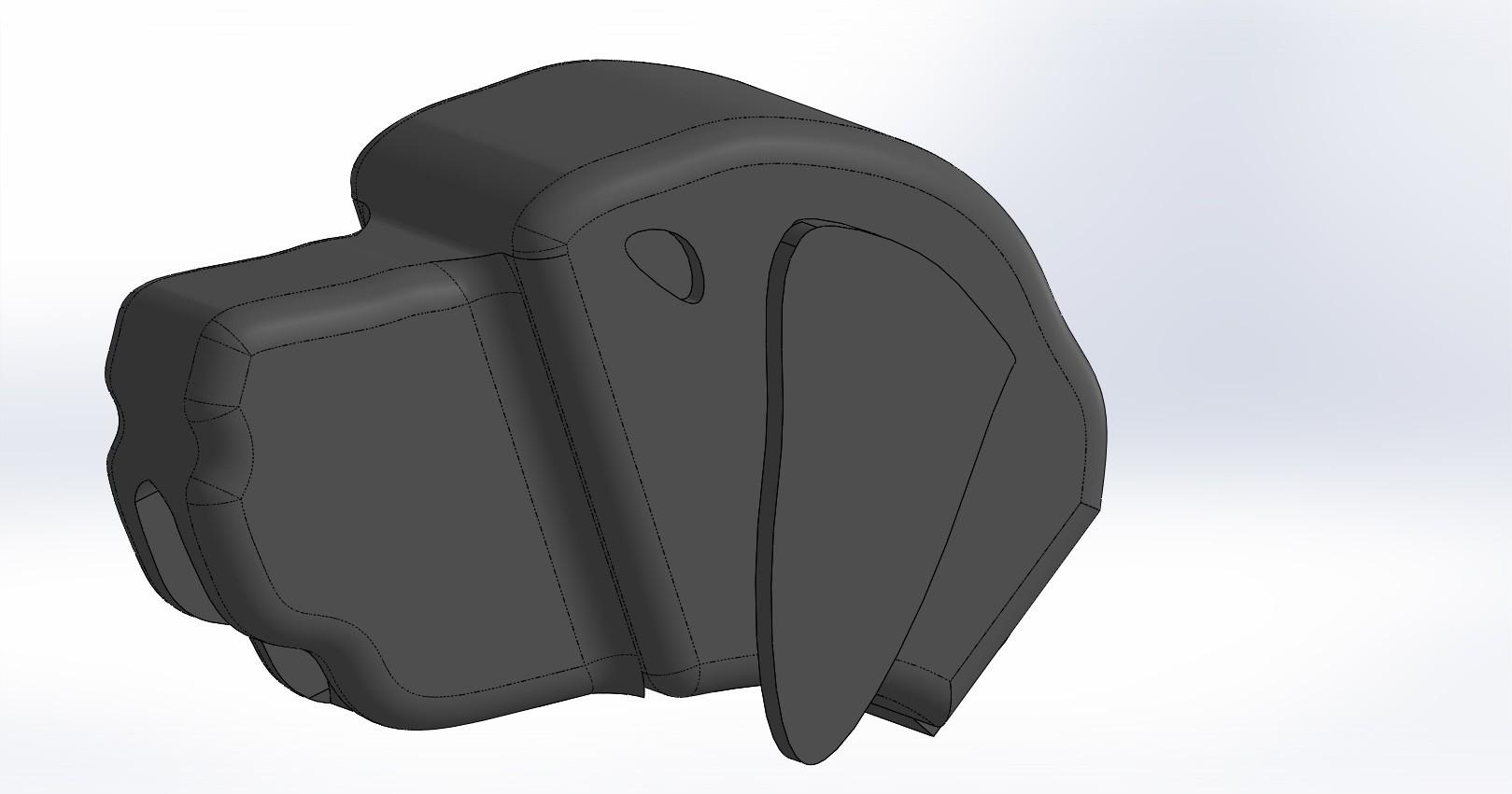 tete.JPG Download free STL file Brass dog • 3D printable template, boyery