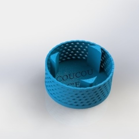 "PHOTOPHORE.JPG Download free STL file kit plus coasters / flat / photophore ""cuckoo c'est moi"" • 3D printer object, boyery"