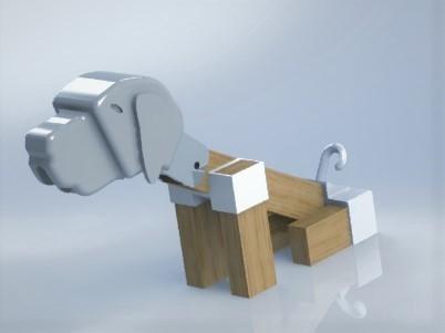 chien1.JPG Download free STL file Brass dog • 3D printable template, boyery