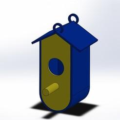 Objet 3D gratuit cabane oiseaux (rouge gorge), boyery