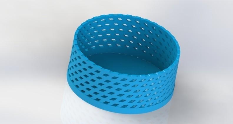"panier2.JPG Download free STL file kit plus coasters / flat / photophore ""cuckoo c'est moi"" • 3D printer object, boyery"