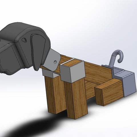 proto lampe chien V2.JPG Download free STL file Brass dog • 3D printable template, boyery
