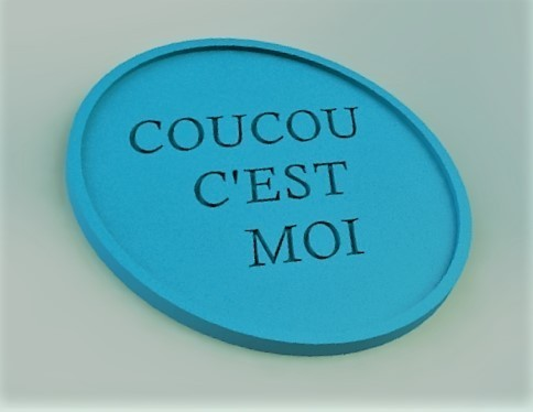 "coucou sv.JPG Download free STL file kit plus coasters / flat / photophore ""cuckoo c'est moi"" • 3D printer object, boyery"