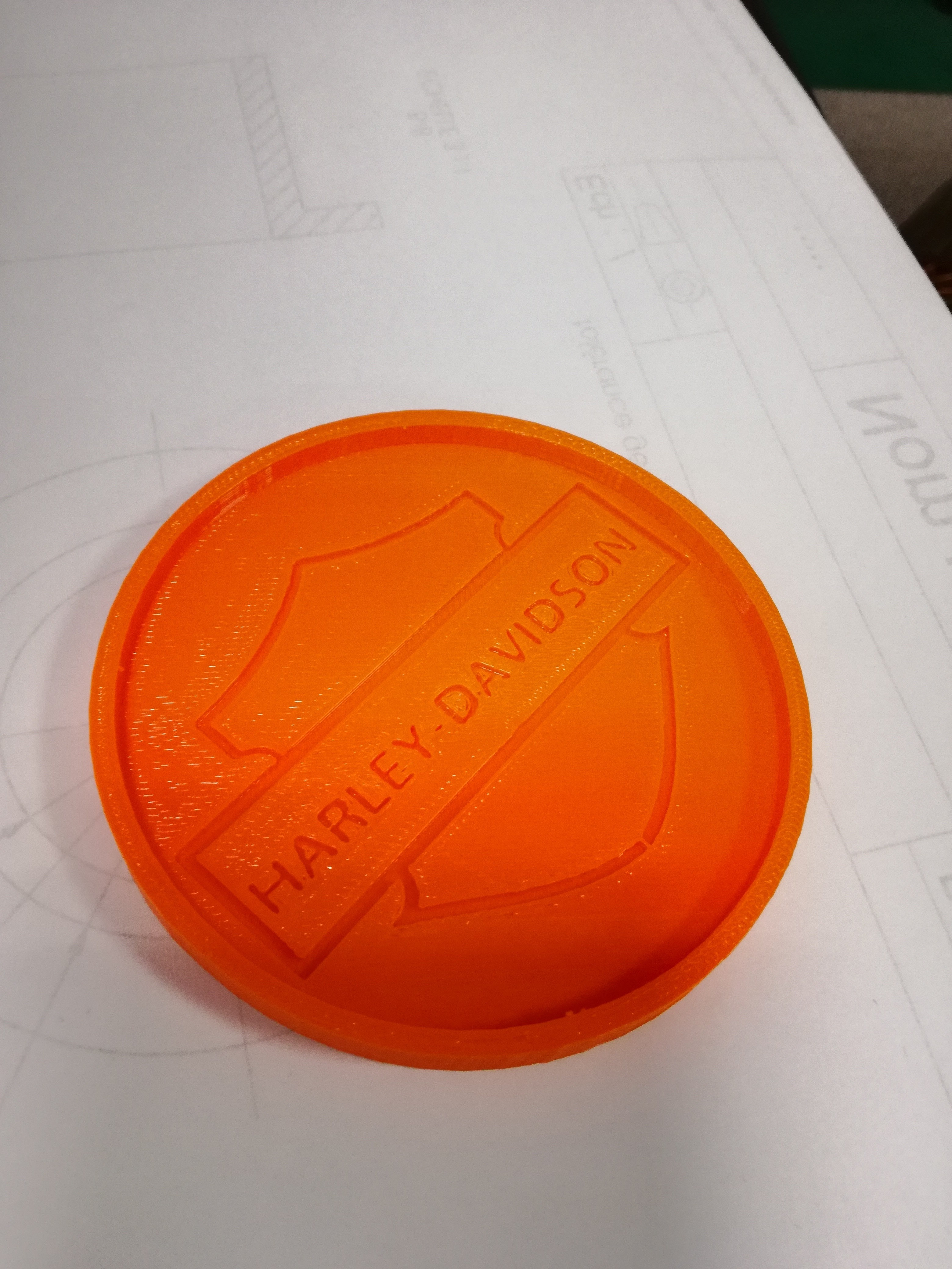 IMG_20180312_160548.jpg Download free STL file Harley Davidson Coasters • 3D printing object, boyery