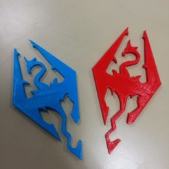 Download free STL file Skyrim Logo • 3D printing template, boyery