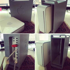 Free 3D print files Mac pro G5 DVD drive enclosure, hugo
