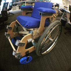 Download free STL file 3D printed wheelchair for MakerED challenge #MakerEdChallenge2, hugo