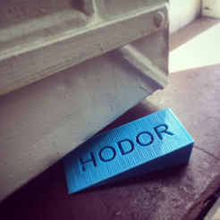 Free STL file HODOR DOOR STOP - GAME OF THRONES, hugo