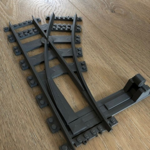 Download free STL file train track switch, Byctrldesign