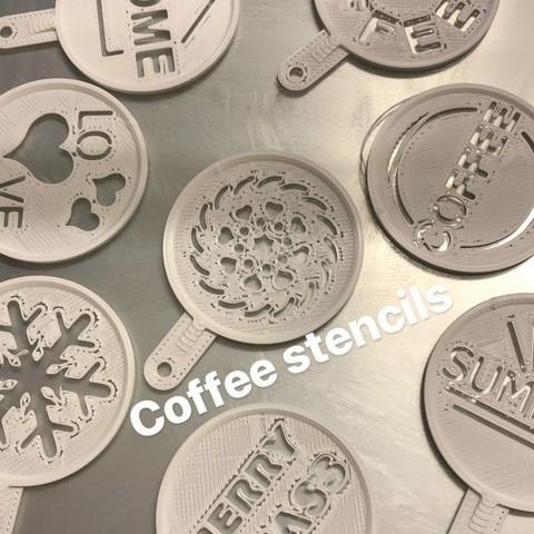 Archivos 3D gratis plantillas de café, Byctrldesign