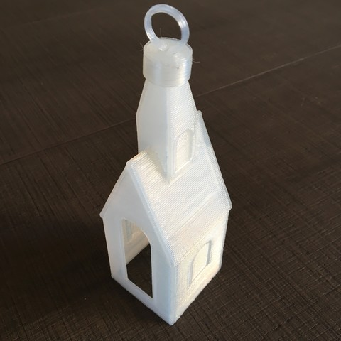Download STL file Christmas decoration church • 3D printing design, Byctrldesign