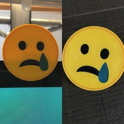 Download 3D printing templates emoji sad cam cover, Byctrldesign