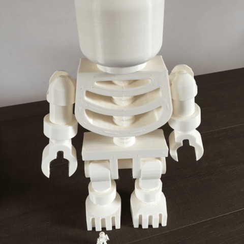 Download free 3D printing designs Giant Lego Skeleton, Byctrldesign