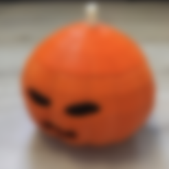 pumpkin_4_left.stl Download free STL file Candy Pumpkin • 3D printing design, Byctrldesign