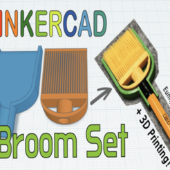 Download free 3D print files Mini broom set with Pencil Toy & Tinkercad, Eunny