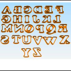 Descargar Modelos 3D para imprimir gratis A-Z alphabet cookie cutter, BlackSand3DMaker