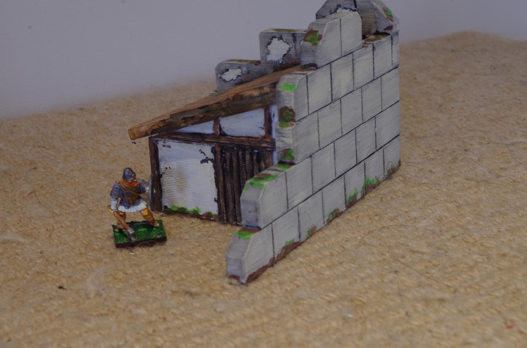 Capture d'écran 2017-07-03 à 15.29.04.png Download free STL file Saxon Burh Hut (on Roman Walls) • 3D printable template, Earsling