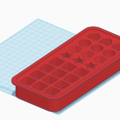 Download free 3D printer designs Ice Tray, Hugo