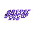 Download free 3D printer templates Letters, 3DBuilder