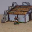 Télécharger STL gratuit Cabane Burh saxonne (sur les murs romains), Earsling