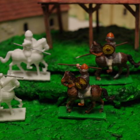 Free 3D print files Generic Sword'n'Board 28mm Cavalry, Earsling