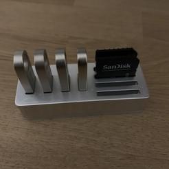 Télécharger objet 3D Usb & Sd card organisateur, Lahbib