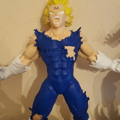Télécharger fichier impression 3D Majin vegeta dragon ball z - modèle d'impression 3d, mikaghost11