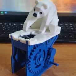 Télécharger fichier 3D gratuit Ours polaire avec phoque (automates), aruba68