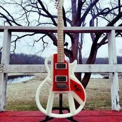 Descargar modelo 3D Guitarra AYVA, Imprende