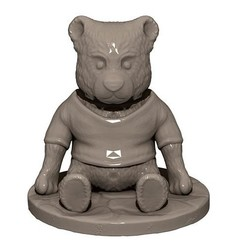 Download 3D printing templates Teddy bear, yoda3d