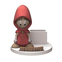 Download 3D printer templates Red hooded pencil holder, yoda3d