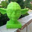 Download STL file YODA BUST 2 • 3D printable template, yoda3d