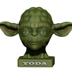 Download STL file YODA BUST 2 • 3D printable template, yoda3d