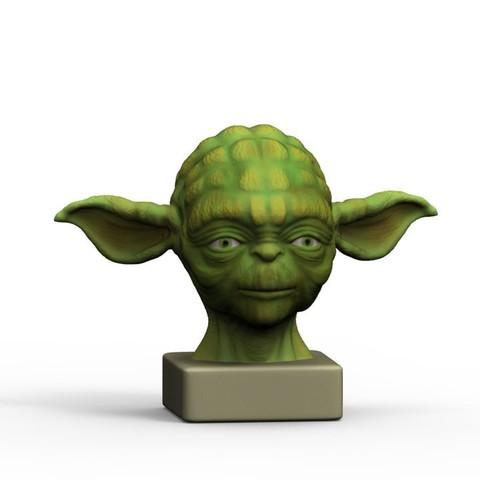 3D print model yoda, yoda3d