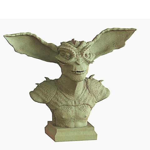 Download STL file creature Bust • 3D print design, yoda3d
