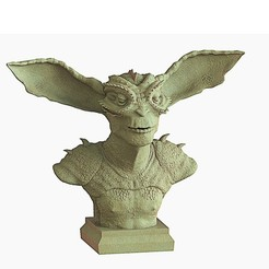 Download STL files creature Bust, yoda3d
