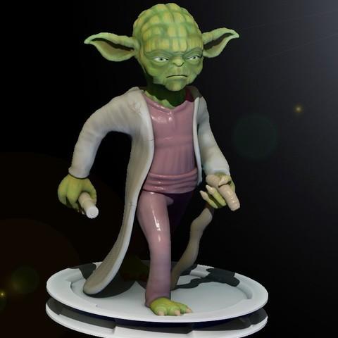 YODA.jpg Download STL file yoda Master • 3D printer model, yoda3d